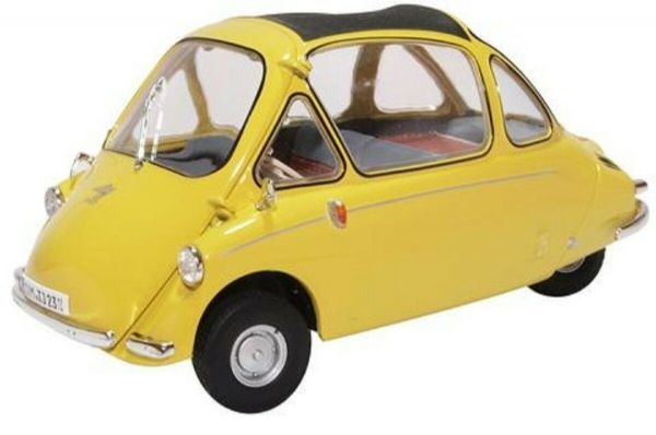 Oxford 18HE003 HE003 1/18 Scale Heinkel Kabine Bubble Car Yellow